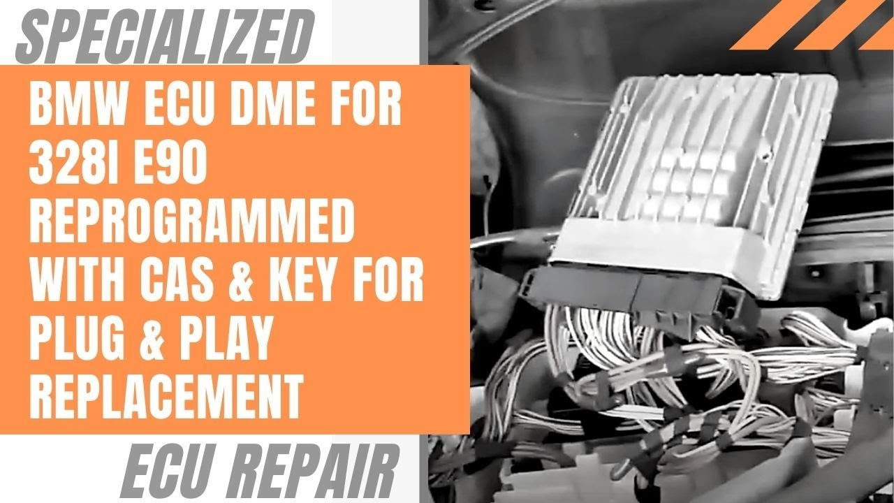 BMW ECU DME for 328i E90 Reprogrammed with CAS & Key for Plug & Play