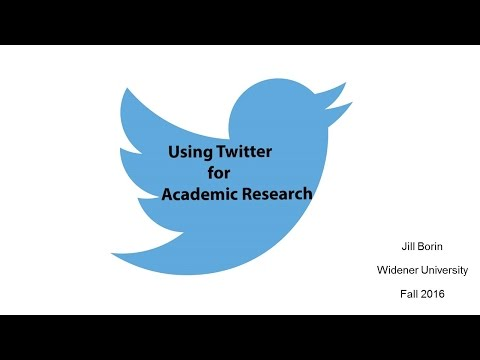 Using Twitter for Academic Research