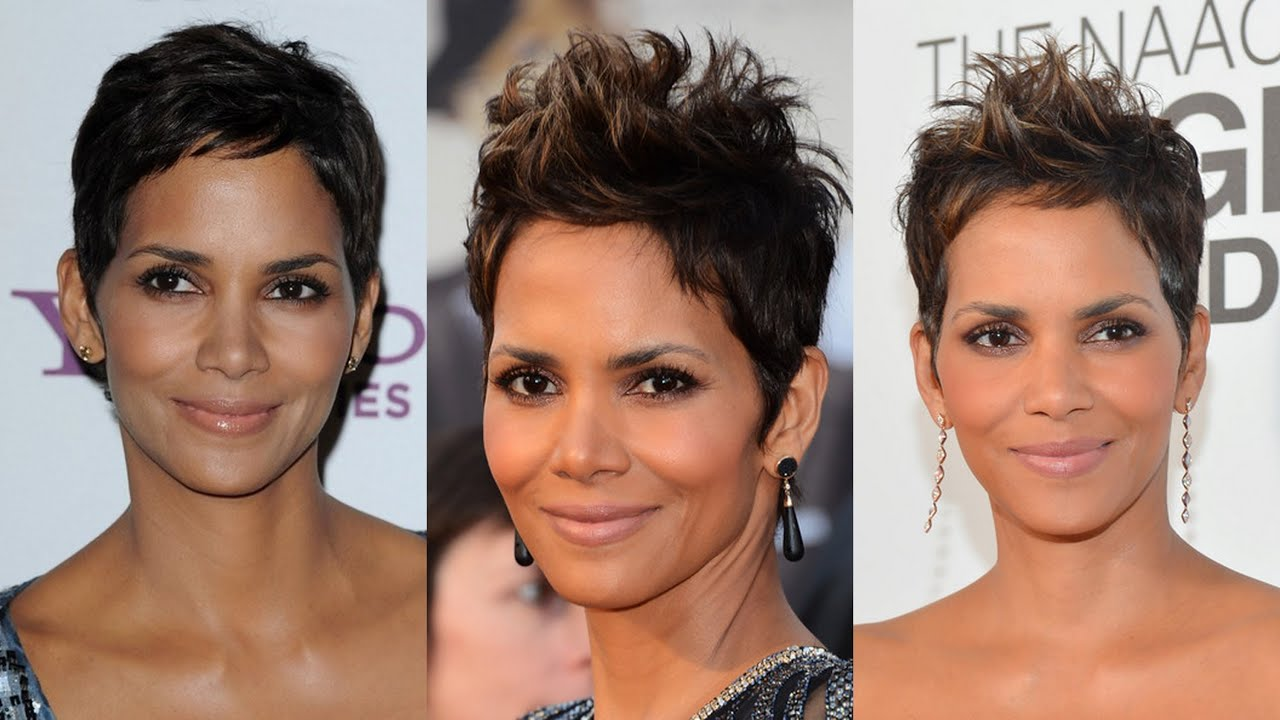 Halle Berry Short Hairstyles - YouTube