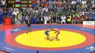 Ossetian Wrestler Besik Kudukhov (red )60 Kg World Championship Final 2010 In Moscow