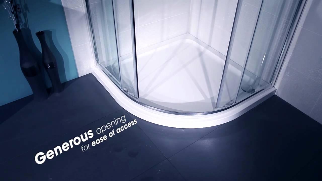 AquaLine Quadrant Shower Enclosure - YouTube