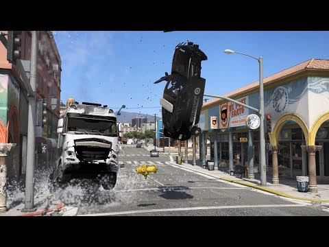 Gta V Reckless 22 Fatal Truck Accidents Youtube