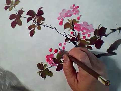 flowers painting in chinese watercolor brushes youtube