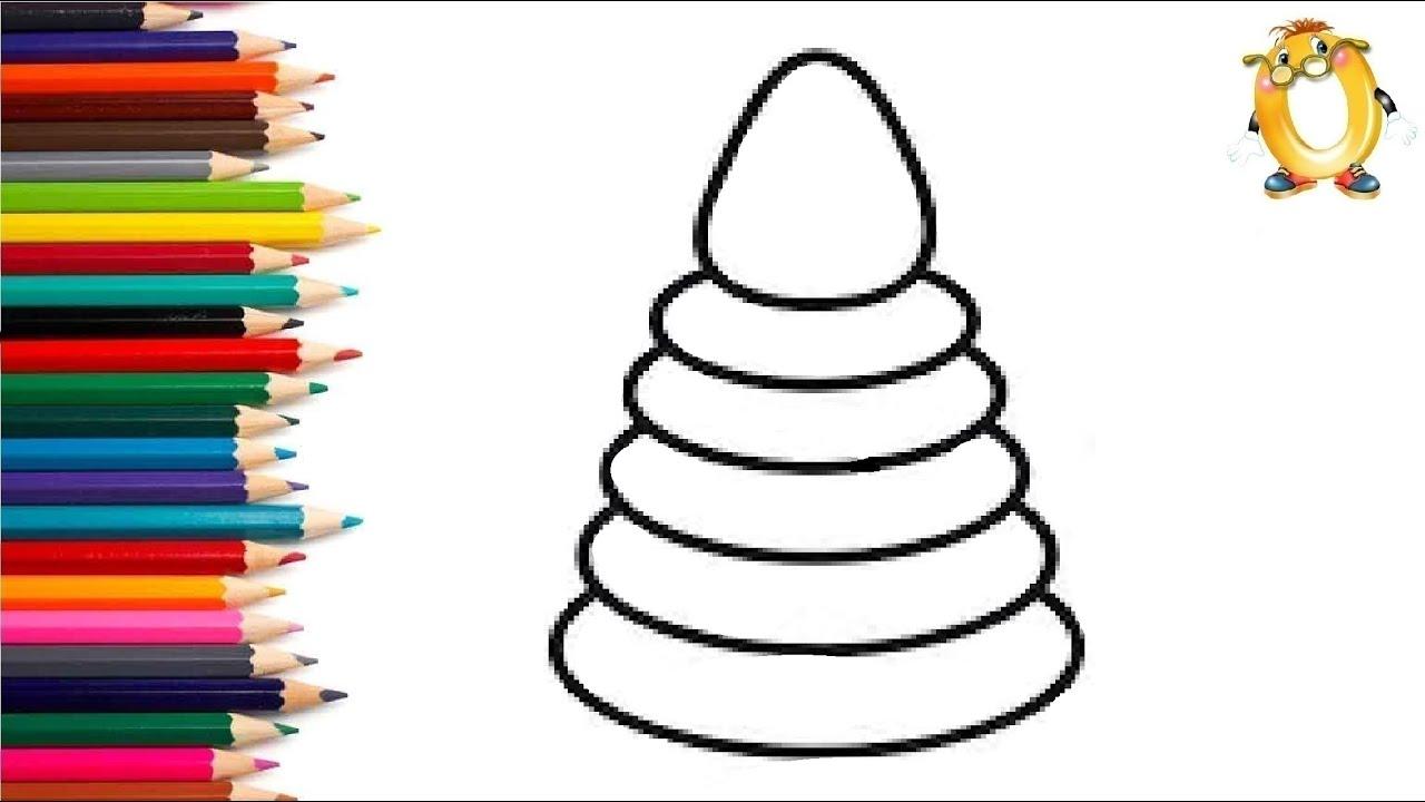 Раскраска для детей РАДУЖНАЯ ПИРАМИДКА. Мультик ...