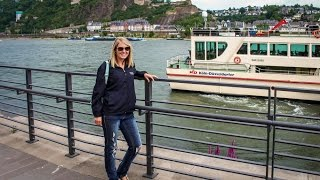 River Rhine Boat Cruise, Cologne, Germany- Viewing Castles Lorelei Rock & Train to Koblenz