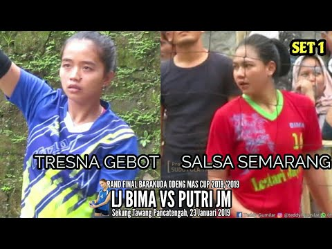 #set1 #highlight  Adu CERDIK Dara CANTIK (Salsa Vs Tresna)// Spike Tresna Hampir Kena Kepala...