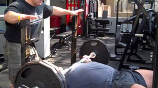 MCL's Tony Ricci testing Shihan Steven Sciandra NFL Combine Bench Press test