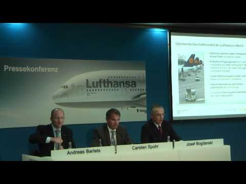 Lufthansa-Pressekonferenz Konzept Berlin 2012 am 09.11.2011 - Josef Bogdanski
