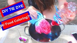 DIY: TIE DYE WITH FOOD COLORING!