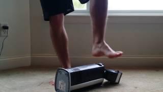 air tower stomp barefoot  [male man foot feet fetish]