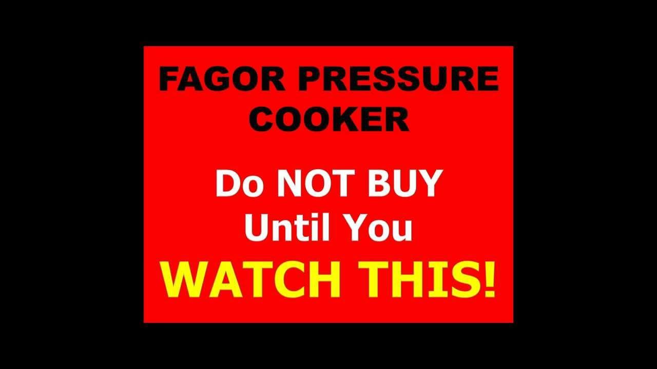 Fagor Pressure Cooker Fagor Pressure Cookers Fagor Duo Pressure