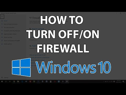 How to turn on/off Firewall in Windows 10 – Disable Firewall