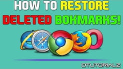 """How To RESTORE DELETED BOOKMARKS on GOOGLE CHROME or """"Any Other Wed Browser"""" 2015"""