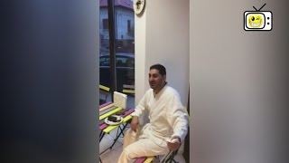 Mihaita din Berceni la cofetarie in halat de baie | Râs TV