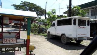 Tricycle ride thru San Francisco, Agusan del Sur, Philippines
