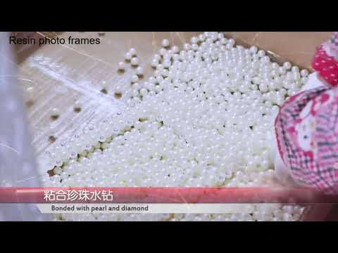 How to make pearl resin picture frames