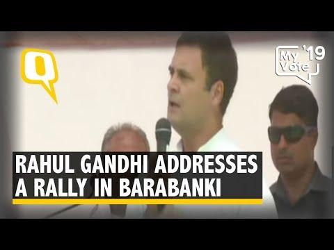 Rahul Gandhi Addresses Public Rally in Barabanki, UP
