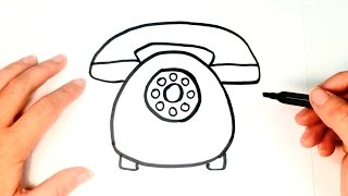how to draw a telephone for kids telephone drawing lesson step by step