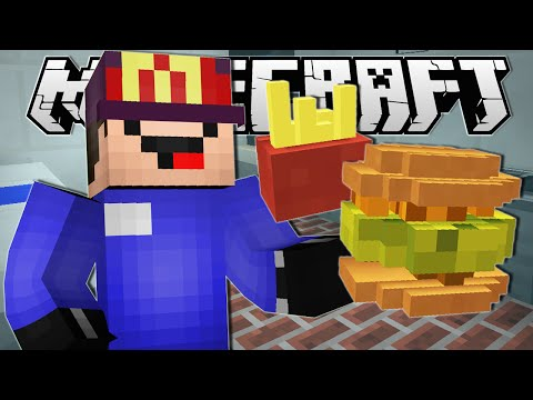 Minecraft | WORKING AT MCDONALDS!! | Order Up Custom Map thumbnail