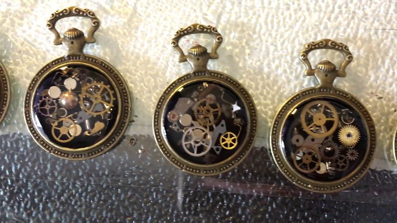 My steampunk pendants resin diy youtube mozeypictures Gallery