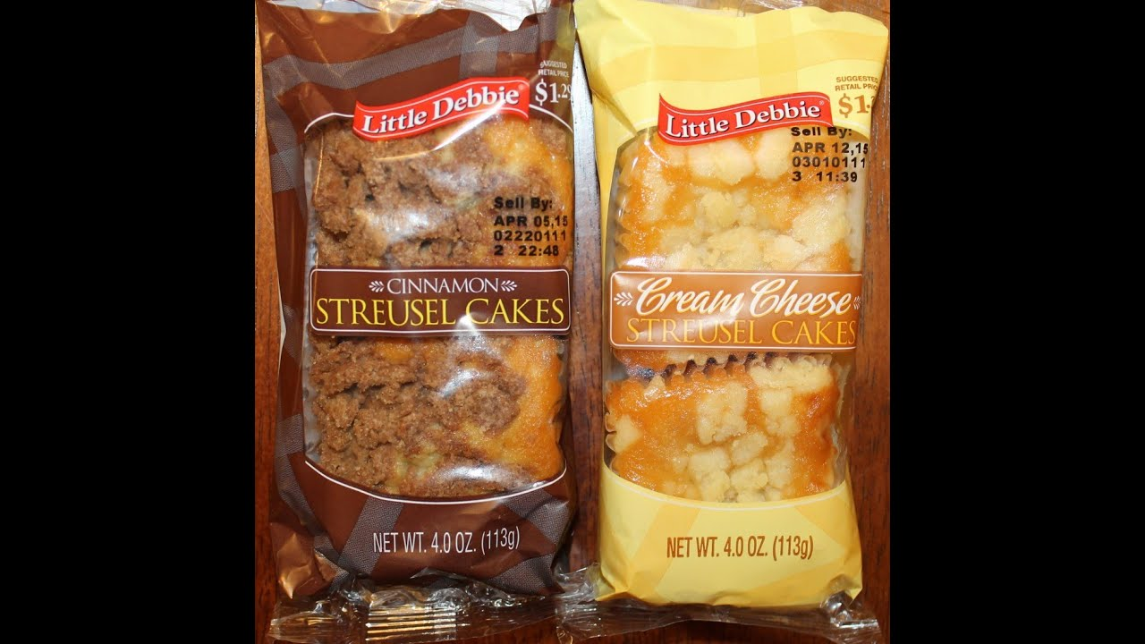 Little Debbie Streusel Cakes Cinnamon Cream Cheese Review Youtube