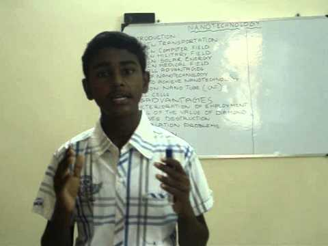 Nikhil's Speech on Nanotechnology