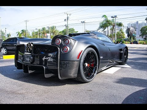 Pagani Huayra Roadster Black Carbon Fiber BEAST – Start Up Sound Interior Exterior & Drive