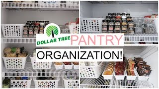 ORGANIZE AND DECLUTTER WITH ME // DOLLAR TREE PANTRY ORGANIZATION // Simply Allie