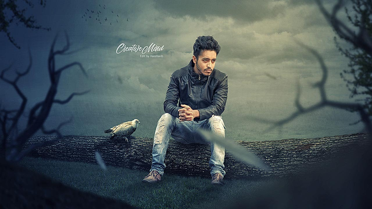 Alone boy photo manipulation tutorial youtube