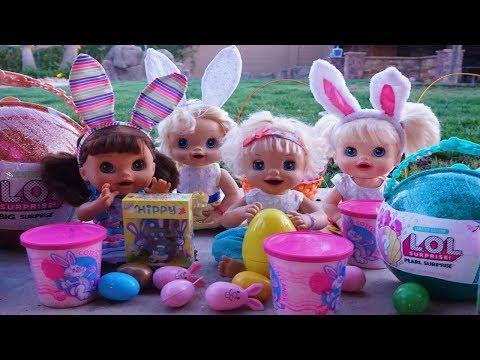 BABY ALIVE Easter Egg Hunt Fun!