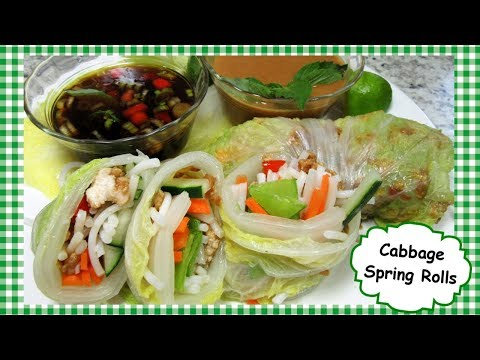 Asian Cabbage Spring Rolls Recipe ~ Healthy Spring Roll & Dipping Sauce