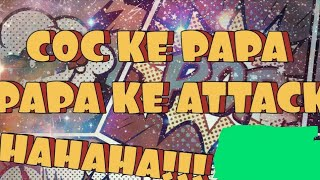 Clash of clans || Papa ka attack || Th - 9 base fully crushed || Rock n Beast ||