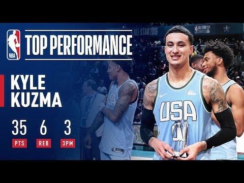 Kyle Kuzma Wins Mountain Dew Ice Rising Stars Game MVP | 2019 NBA All-Star thumbnail
