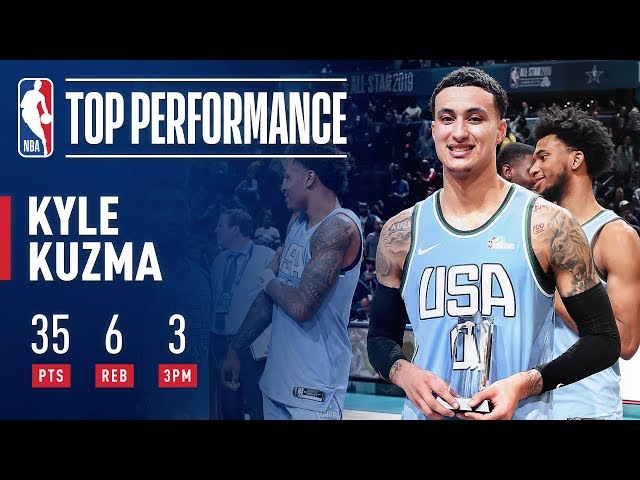 Kyle Kuzma Wins Mountain Dew Ice Rising Stars Game MVP | February 15, 2019