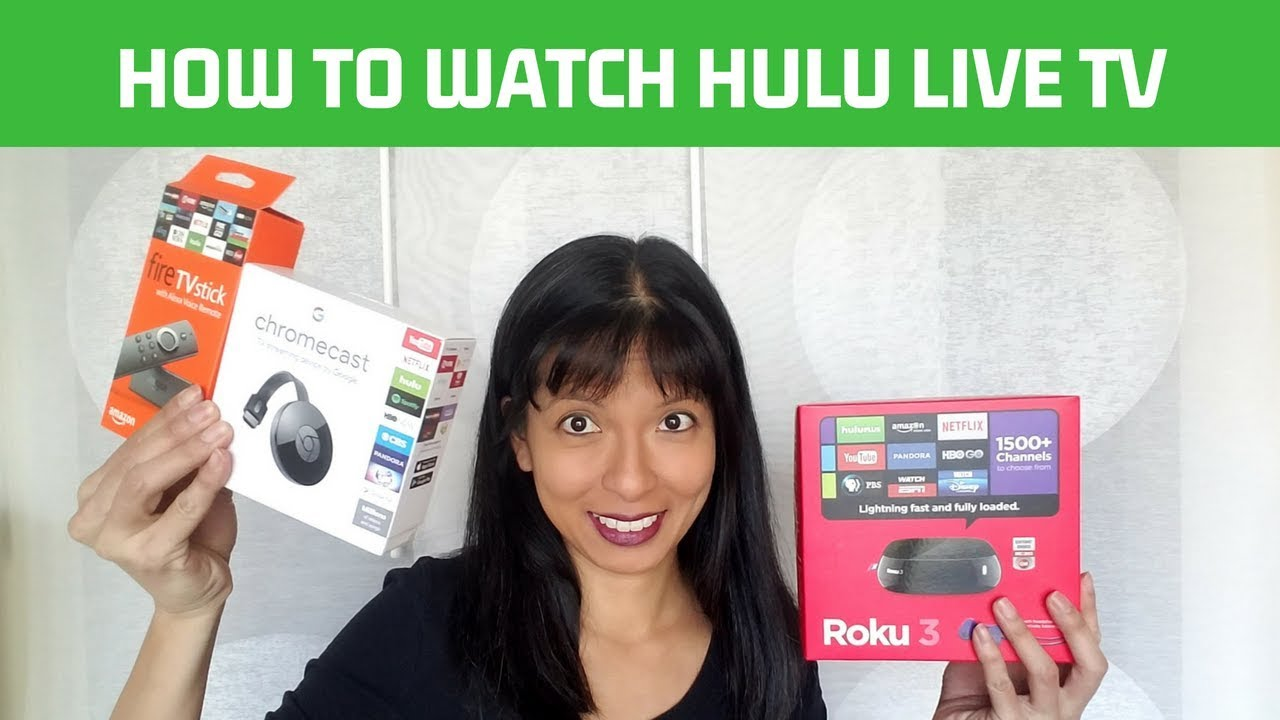 Hulu Live TV on Chromecast, Roku, FireTV Stick, and Alexa