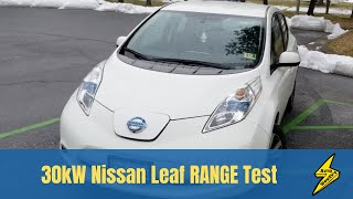 Range Test: 2016 Nissan Leaf 30kW from 95% to 7%