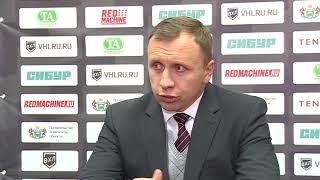 Главный тренер ХК «Рубин» Михаил Звягин после победы над «Тамбовом»  (4:1)