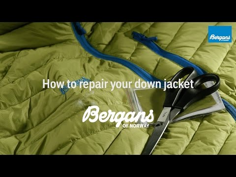 How to repair your Bergans down jacket