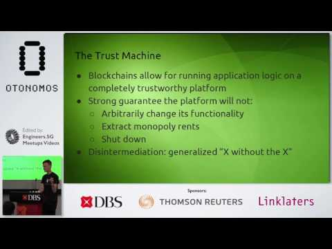 Keynote by Vitalik Buterin: Crypto 2.0 - State of the Onion - Smart Contracts for Smart Nations