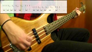 Foo Fighters - Outside (Bass Cover) (Play Along Tabs In Video)
