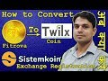 Full Details: How to change Fitrova Coin (FRV Token) to Twilx SEO Coin | SistemKoin Exchange Detail