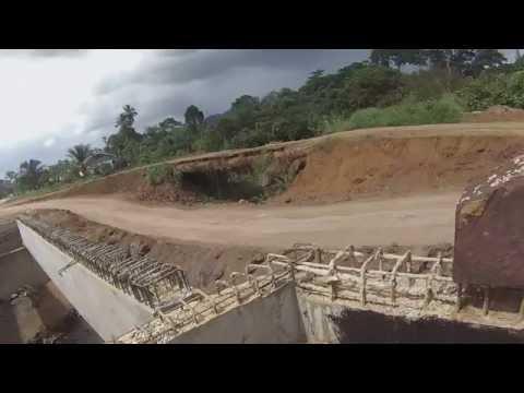 New bridge work in Kumba - Mamfe Road