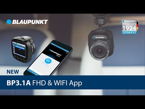 New BP3.1A FHD with WIFI App 140° Wide Viewing Angle - Blaupunkt DVR