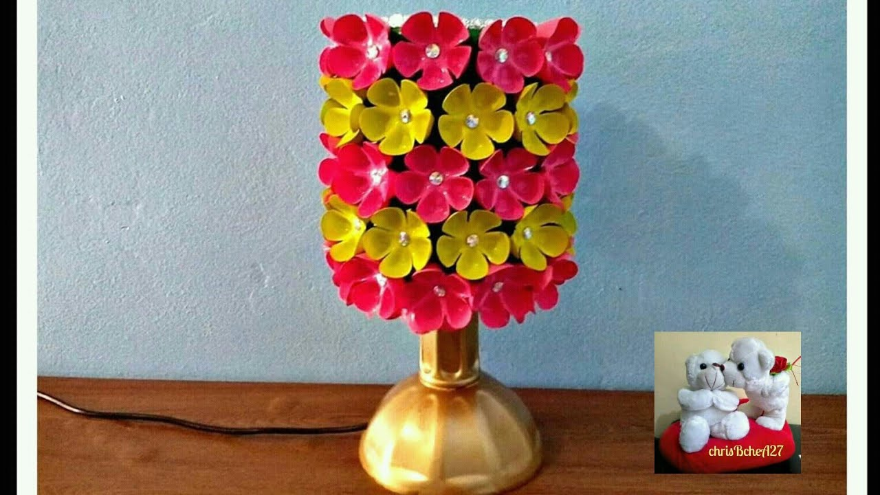 DIY# 39 LAMPSHADE MADE OF RECYCLED PLASTIC BOTTLES - YouTube