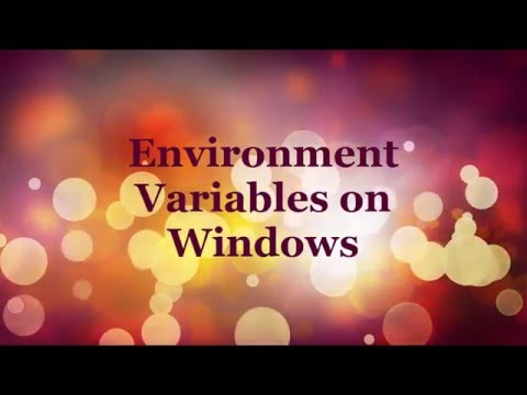 Environment Variables on Windows