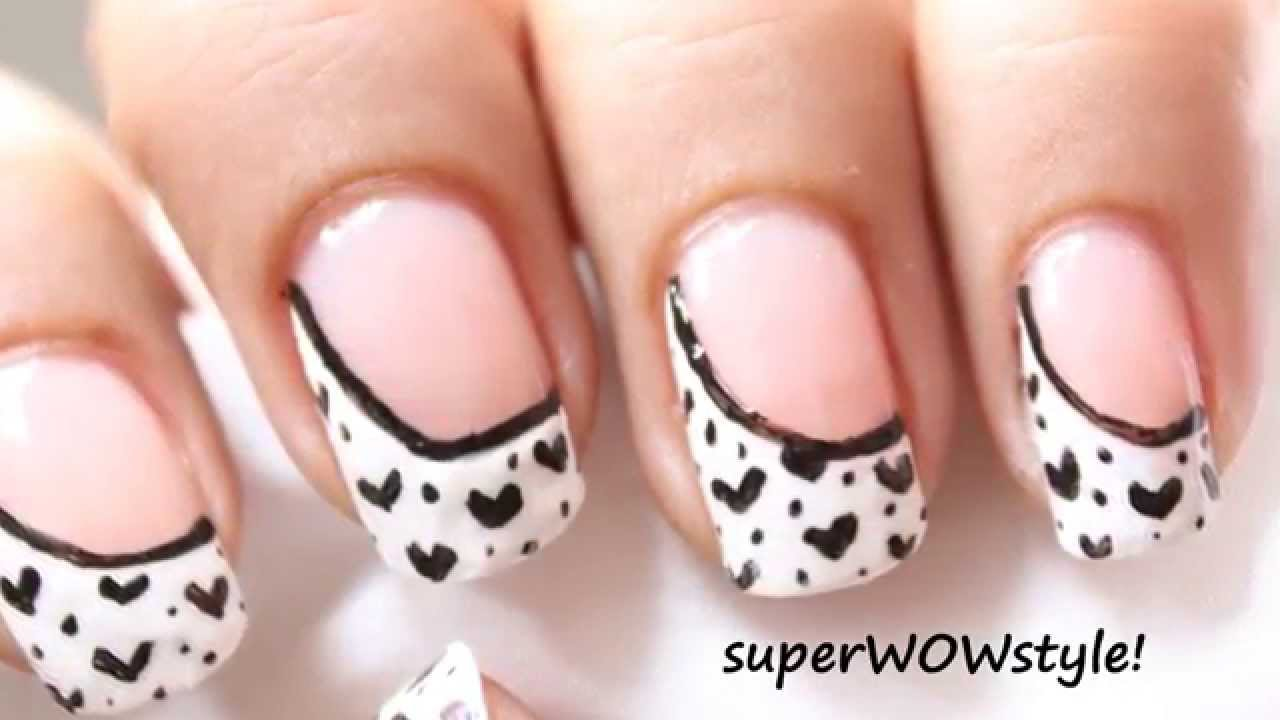 5 Easy steps !! *SUPER QUICK* French Manicure Designs - YouTube