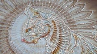 Обалденная вышитая бисером Богиня Баст - Отчет N4 - ФИНИШ (от Абрис Арт)