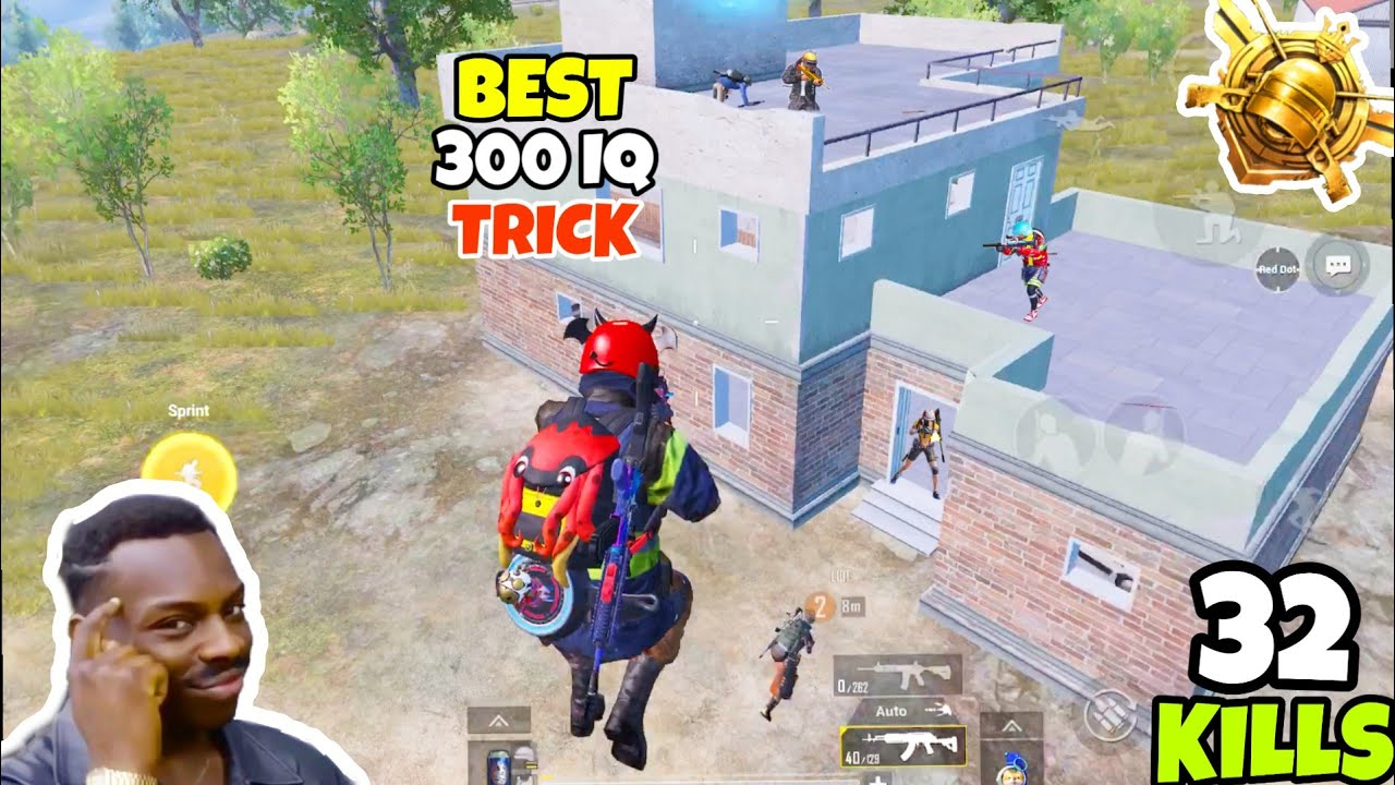 This TRICK is The Best To Defeat Conqueror Level Campers in PUBG Mobile • (32 KILLS) • PUBGM (HINDI)