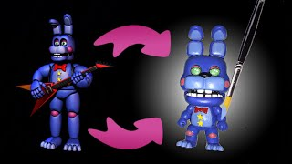 Rockstar Bonnie Custom POP! Figure (Tutorial/Speedpaint)