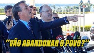 Jornalistas abandonam coletiva com Bolsonaro! que fala de Doria, OMS, ouve caminhoneiro e mais!